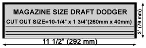 12 inch Classic Mailslot Template