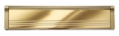 Polished Gold Flaps Gold Frame Elite Mail Slot