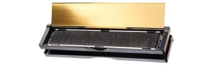 Open Elite Mail Slot with Pass Thru Sleeve revealing Brushes