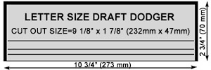 10 inch Draft Dodger Template