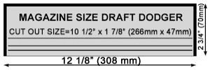 12 inch Draft Dodger Template